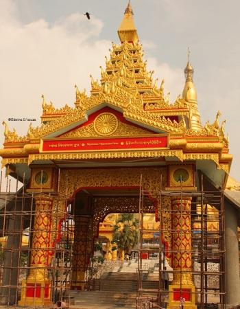 Global Vipassana Pagoda entrance