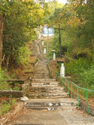 Steps Leading to the Miraculous Cross anjuna