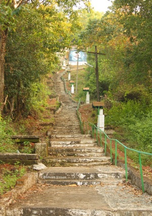 Steps Leading to the Miraculous Cross