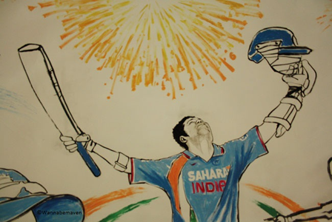 A Sachin Tendulkar caricature