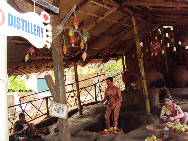 Set-up depicting cashew distillery distinct to Goa