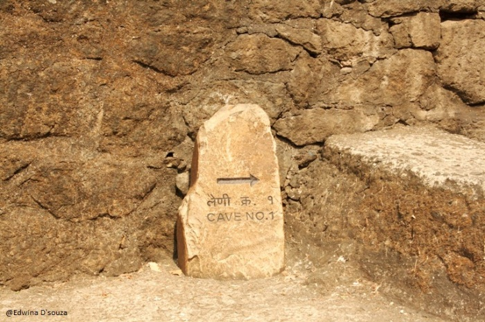 Caves are numbered - Sanjay Gandhi National park