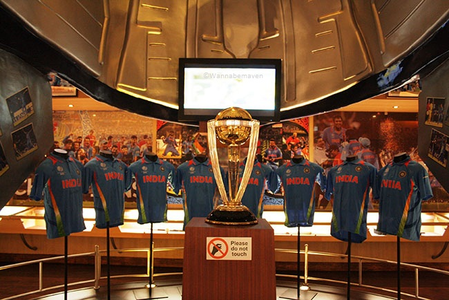 World cup replica - inside Sahara Cricket Gaurav point