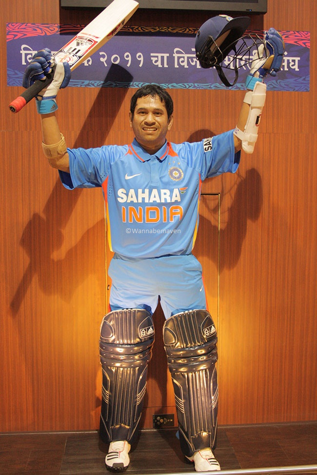 Life size wax replica of Sachin Tendulkar - sahara cricket gaurav point