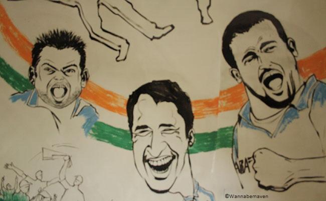 Yusuf Pathan & Virat Kohli Caricatures