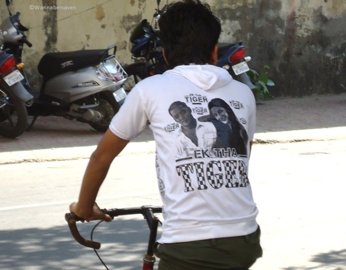 Boy wearing Ek tha Tiger t-shirt - Daman