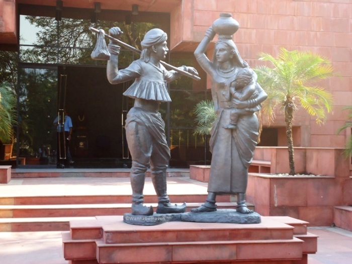 Inside Amul headquaters - Statue of Indian dairy farmers