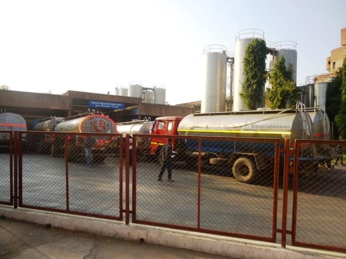 Inside Amul headquaters - transportation trucks