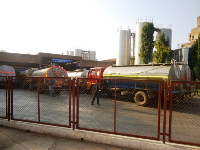 Inside Amul headquaters - transportation trucks
