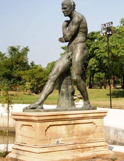 near Sunken Garden in Laxmi Vilas Palace