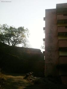 Construction near sewri fort