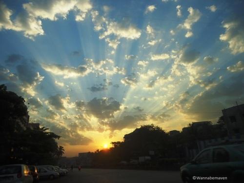 Sunrise on the way to Malangadd fort