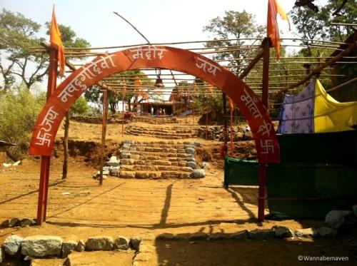 Hindu temple near Haji Malang Dargah