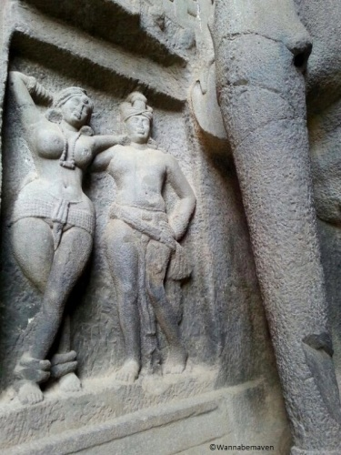 Sculptures at Karla Caves