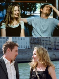 Before Sunrise (above) & Before Sunset (below) - travel films