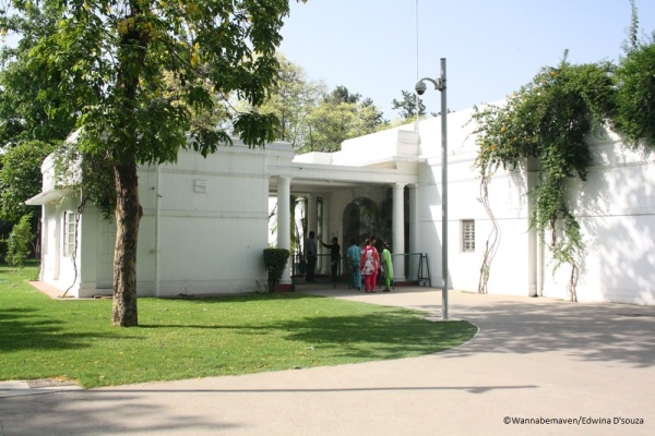 Rajiv Gandhi exhibit inside Indira Gandhi Memorial and Museum