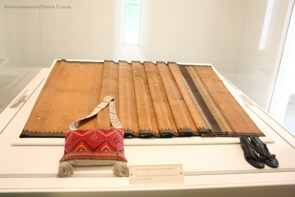 Indira Gandhi bloodstained saree exhibit inside Indira Gandhi Memorial and Museum
