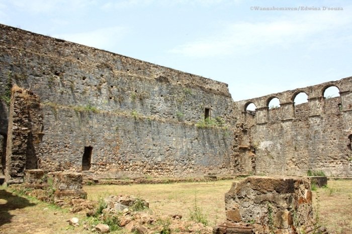 Vasai Fort walls