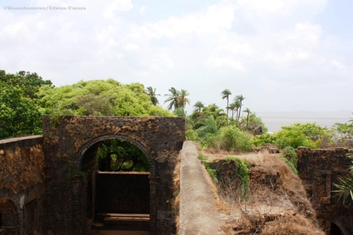 vasai fort overlooking the sea