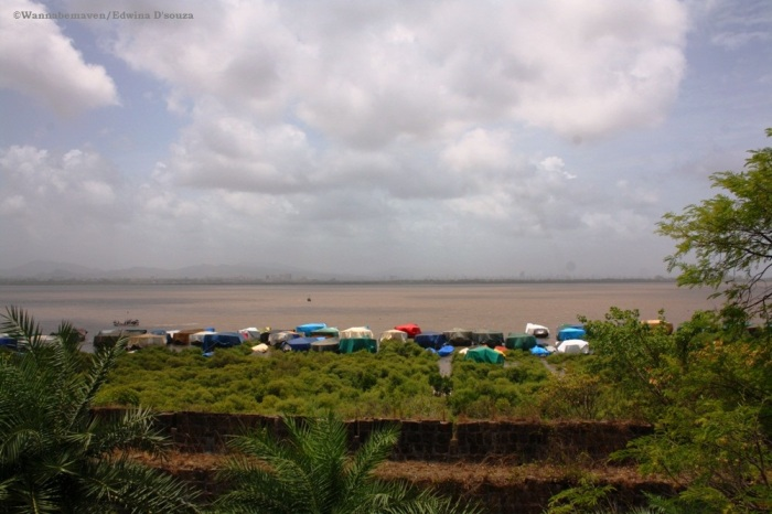 vasai creek from vasai fort
