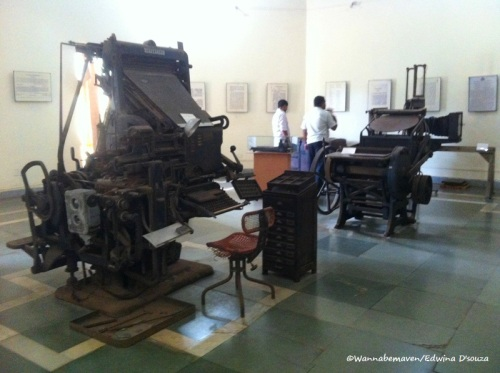 Printing machine at Goa State Museum