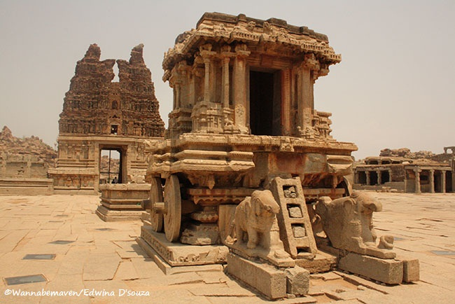 The Stone Chariot at Vithala Temple Complex, Hampi